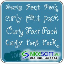 100 Curly Fonts