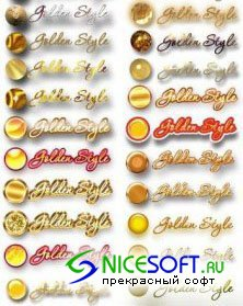 Golden Styles for Photoshop
