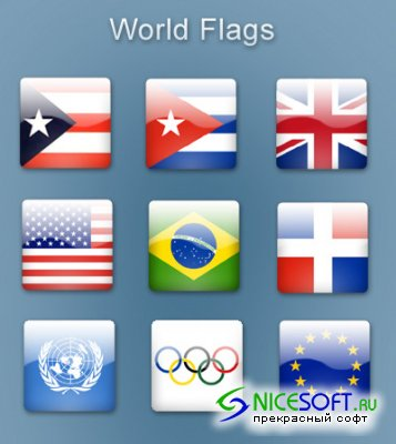 World Flags Icon Set for Windows XP