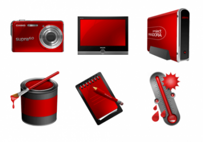 Red Project PNG Icons