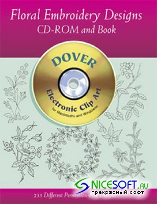 Dover Clipart - Floral Embroidery Designs