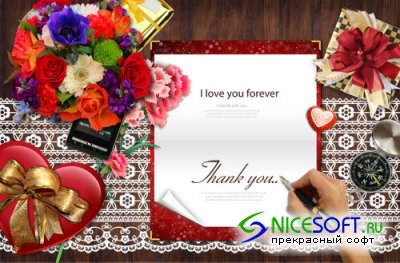 I love You Forever PSD template