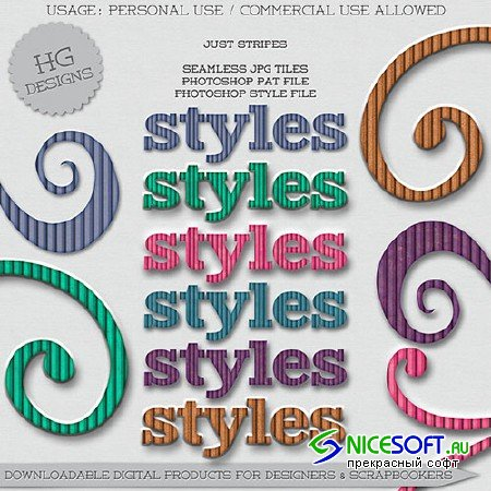 Just Stripes Photoshop ASL Styles