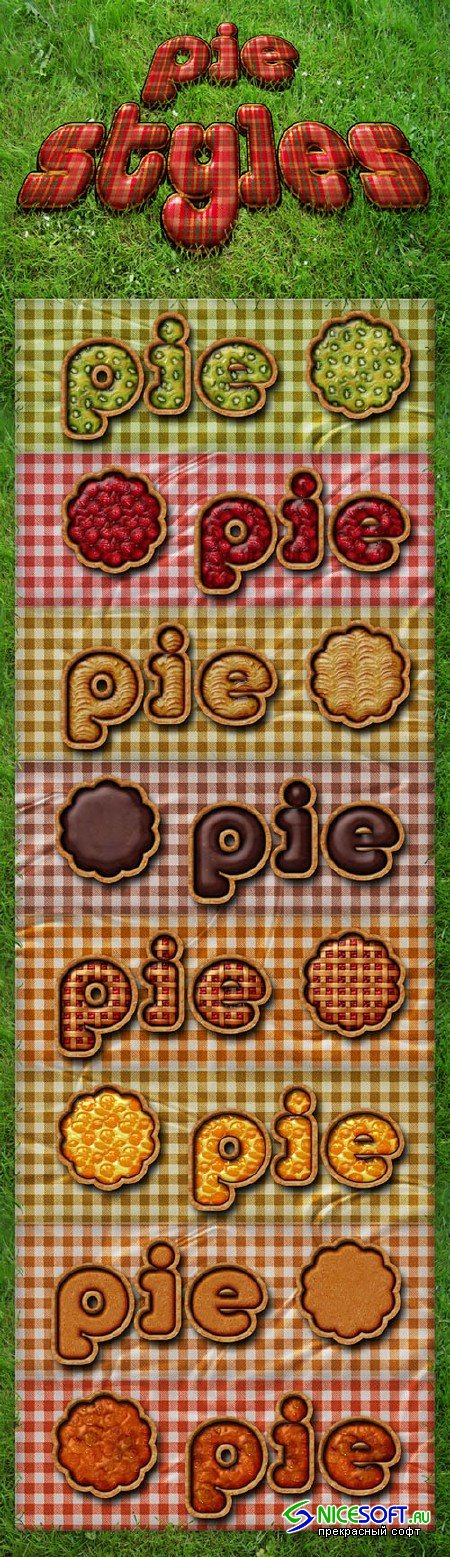 Pie Photoshop Styles