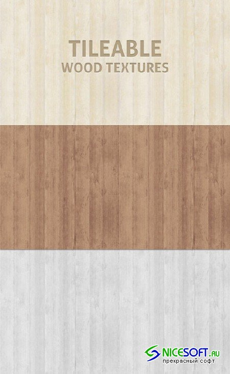 Tileable Wood Texture Photoshop Patterns Set 1