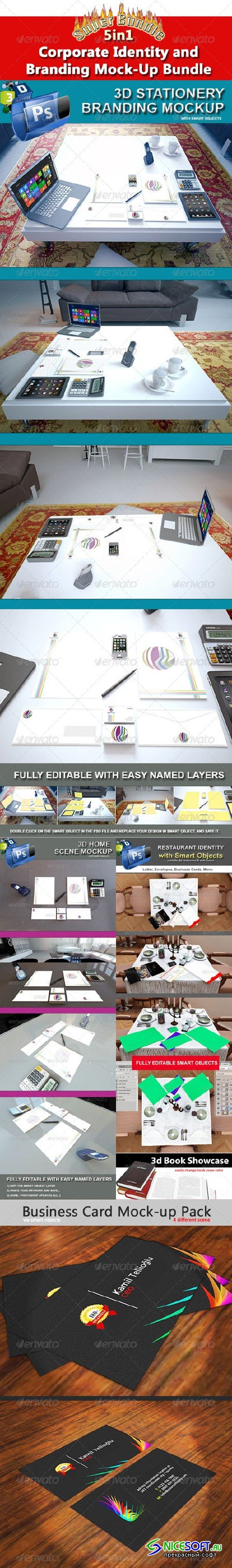 GraphicRiver - Corporate Identity and Branding Mock-Up Bundle 5092397