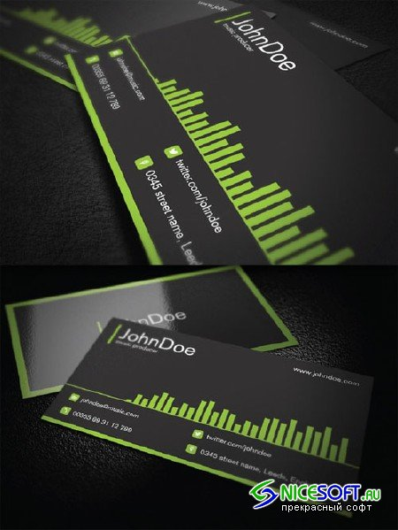CreativeMarket - Music Business Card