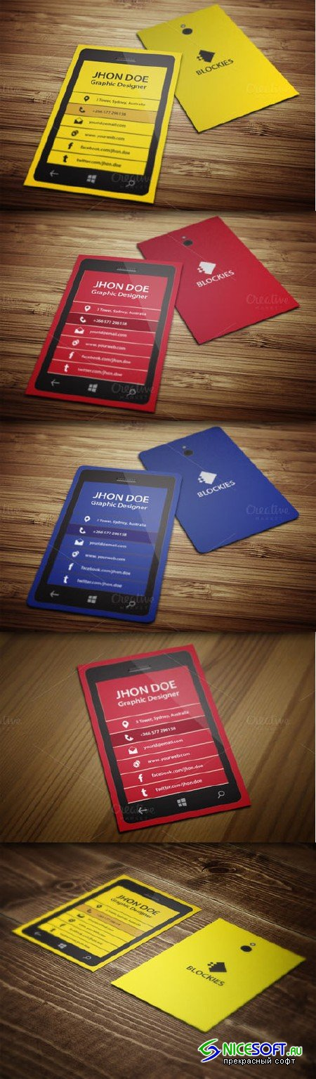 CreativeMarket - Smart Phone Business Card Template