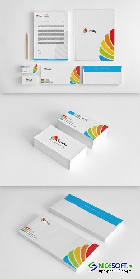 CreativeMarket - Printly Corporate Identity