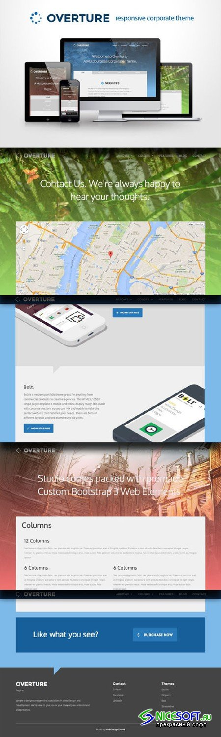 CreativeMarket - Overture - Responsive Corporate site 21480