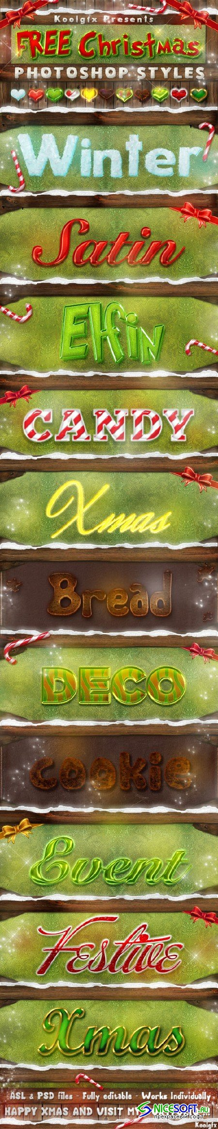 Merry Christmas Text Effect Photoshop Styles