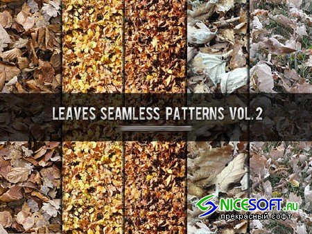 Leaves Seamless Photoshop Patterns Vol. 2