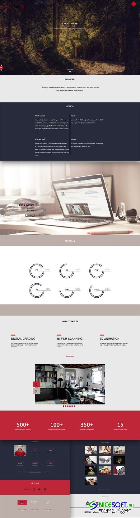 Modern and Clean Web Projects PSD Website Templates
