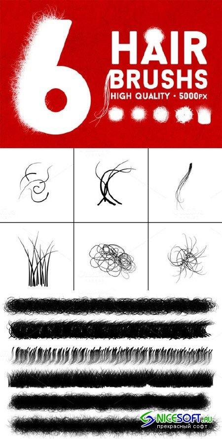 CreativeMarket - The Hair Strand - Photoshop Brush
