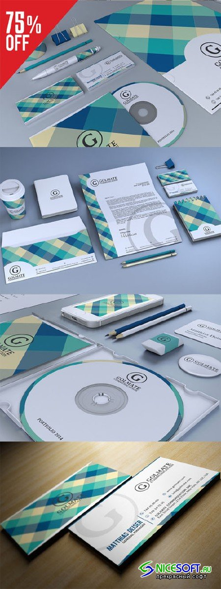 CreativeMarket - Retro Corporate Identity