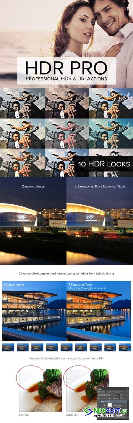CreativeMarket - 33 Tone Mapping & DRI Actions