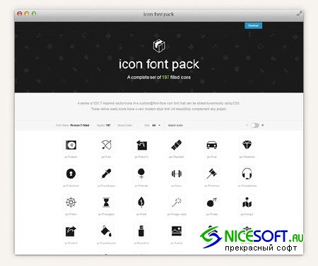 Filled 7 Icon Font Set