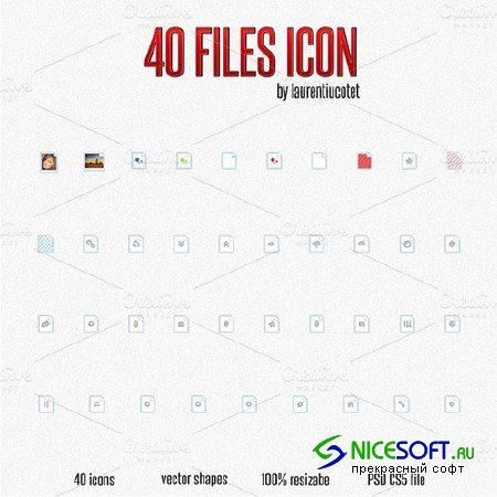 40 Files Icon - Creativemarket 4227