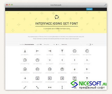 The Icons Font Set - Interface