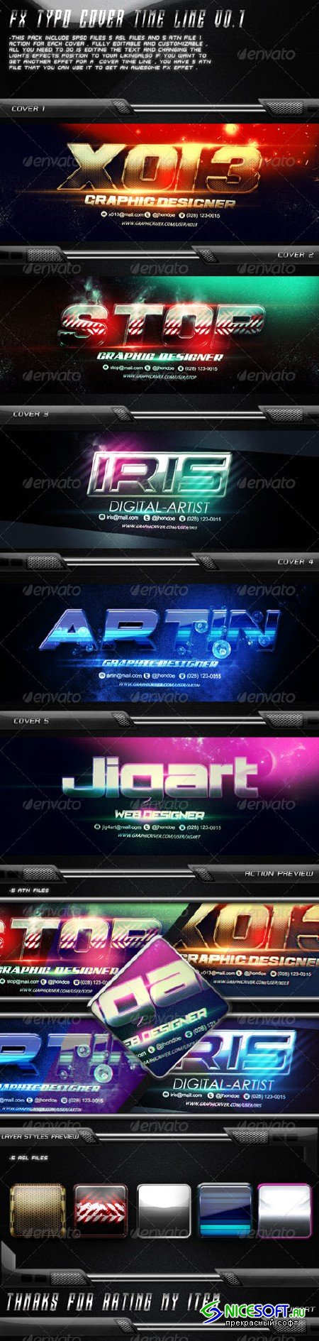 5 FX Typo Cover Time Line V0.1 - GraphicRiver 5365698