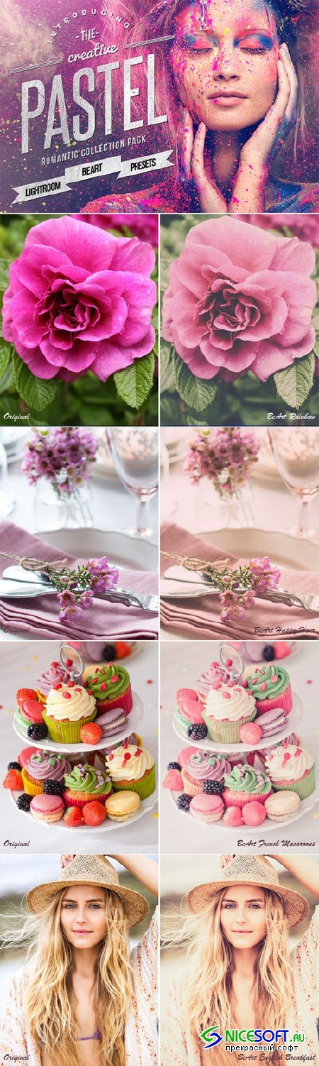 Pastel Colors Lightroom Presets - Creativemarket 107361