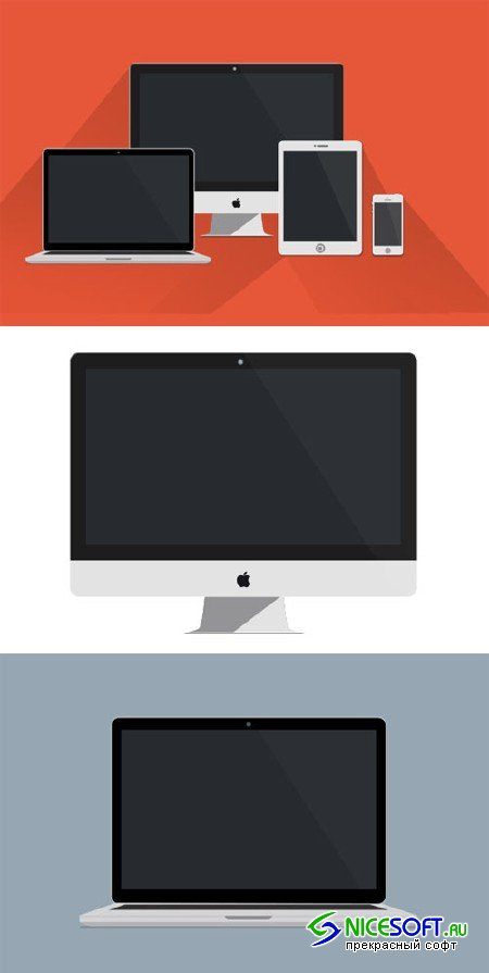 Sleek Apple Product Mockups - Creativemarket 87681