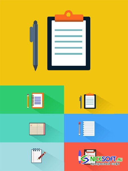 6 Notepad Icons - Creativemarket 87557