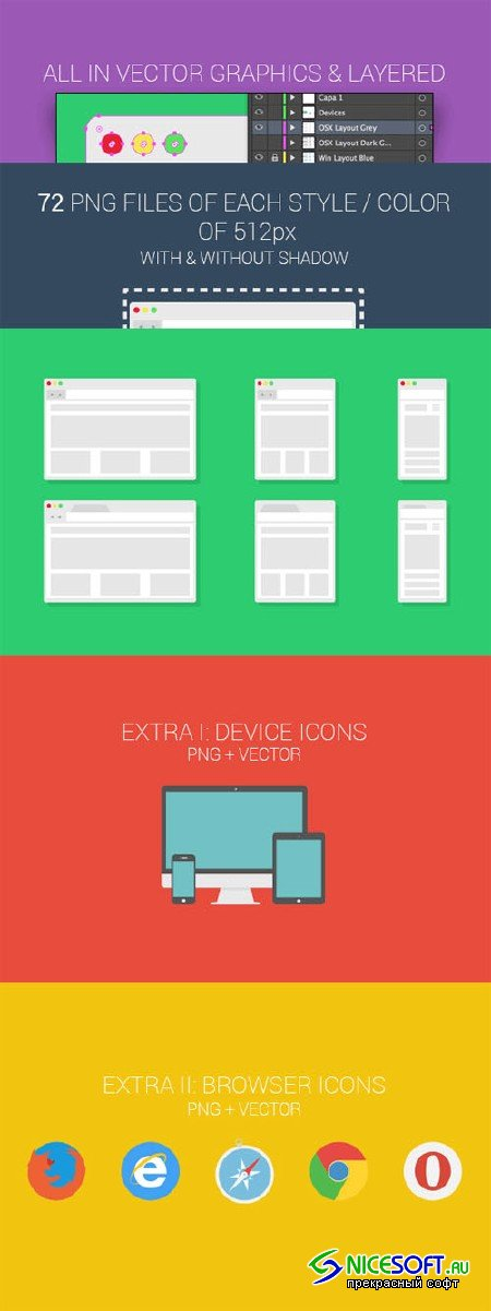 Complete Browser Mockup Pack - Creativemarket 87563