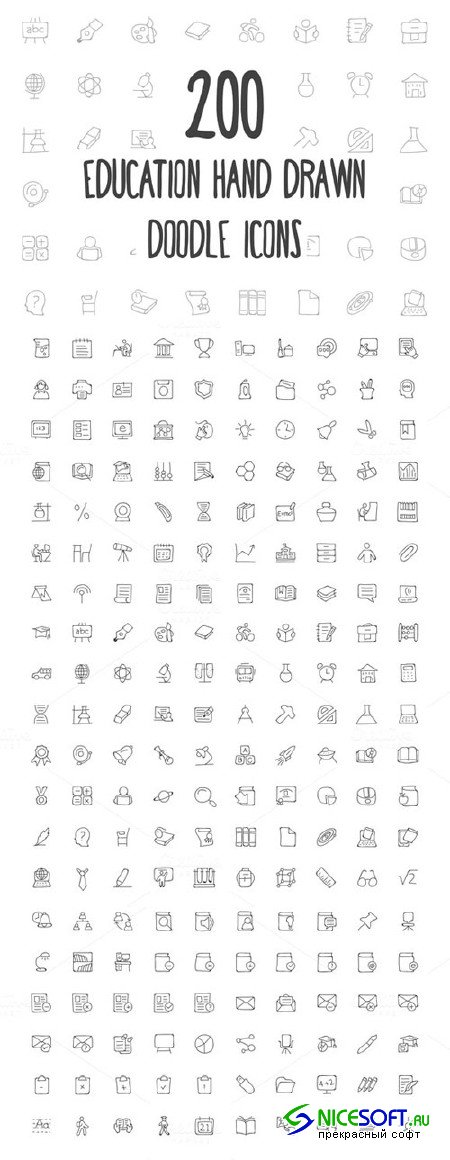 200 Education Hand Drawn Doodle Icon - Creativemarket 160700