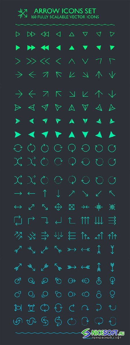 Arrow Icons Set - Creativemarket 212077
