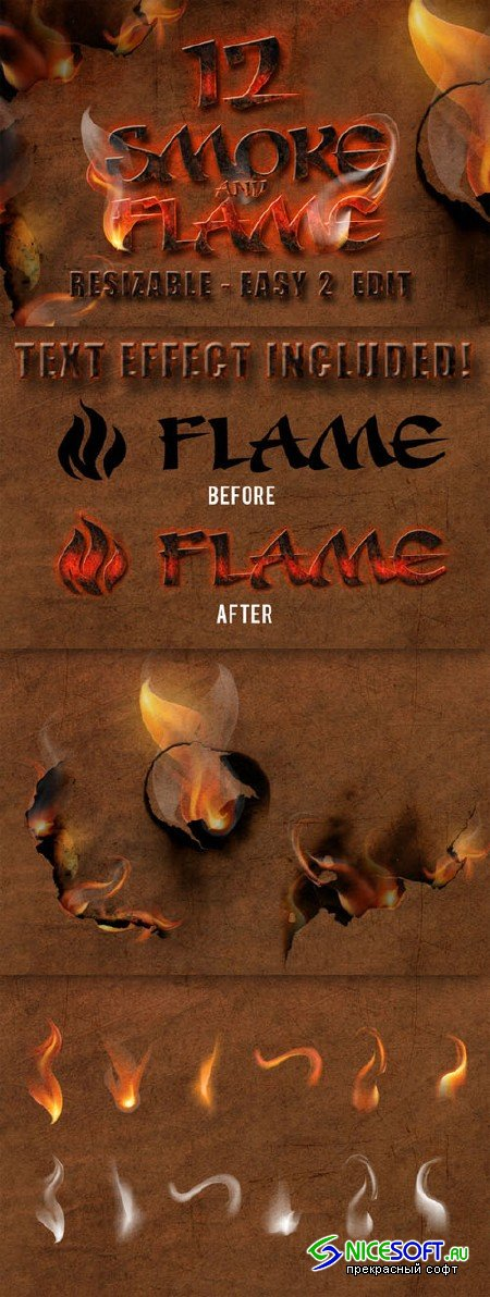 Creativemarket - 12 Smoke and Flame Effects 240785