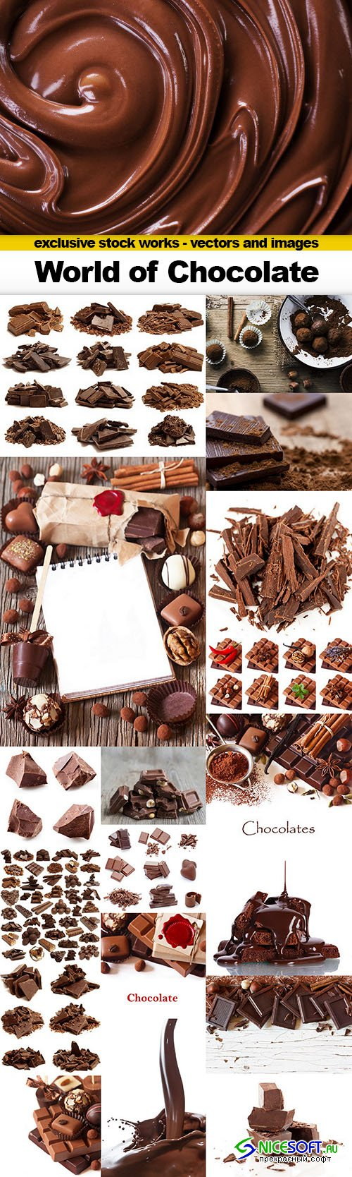 World of Chocolate - 19x UHQ JPEG