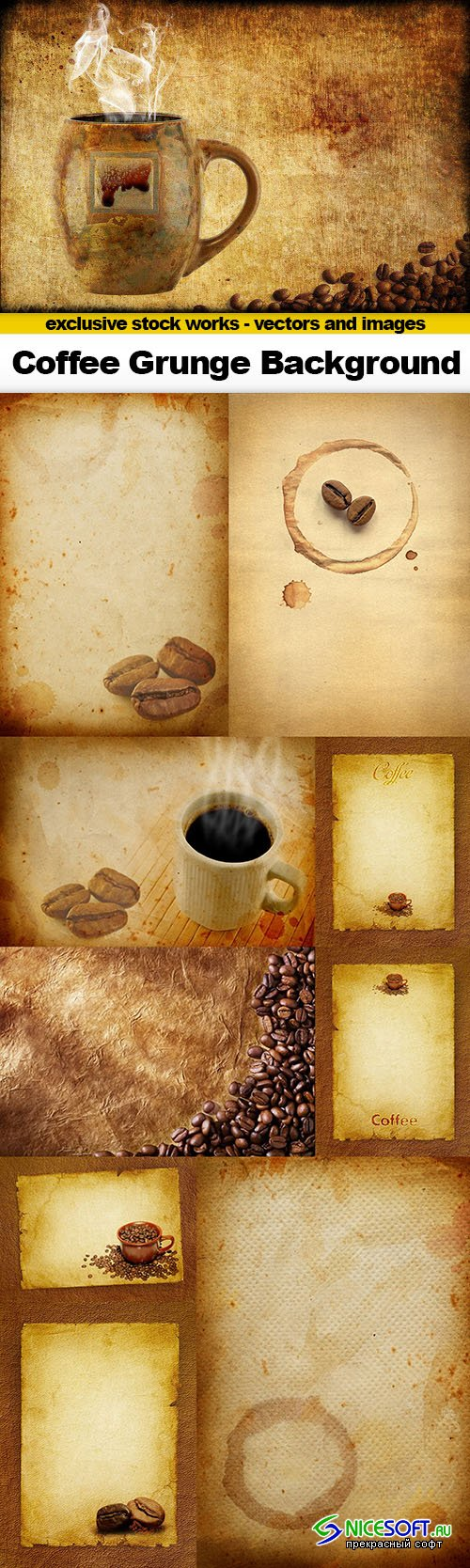 Coffee Grunge Background - 10x UHQ JPEG