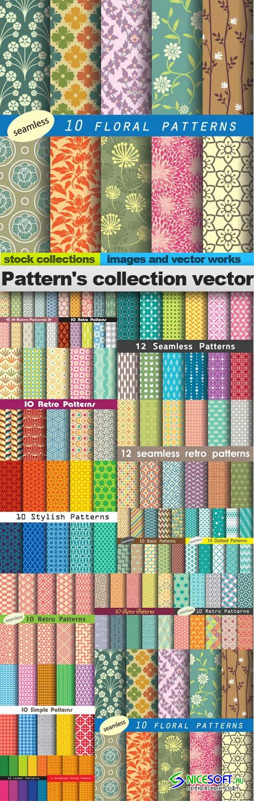 Pattern's collection vector, 15 x  EPS