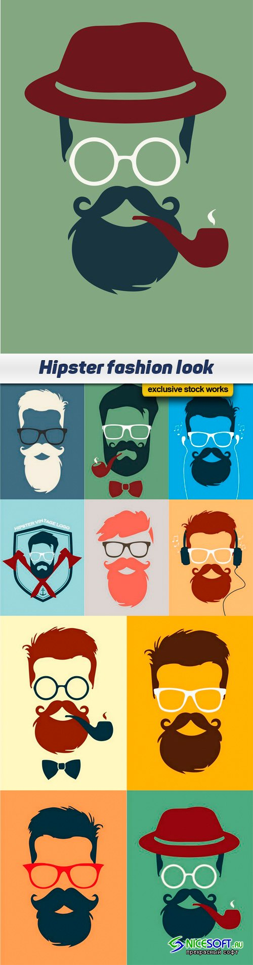Hipster fashion look - 10 EPS