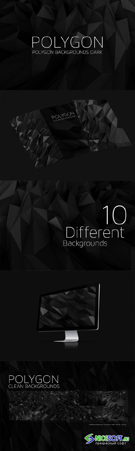 Polygon Backgrounds Dark V4 - Creativemarket 49764
