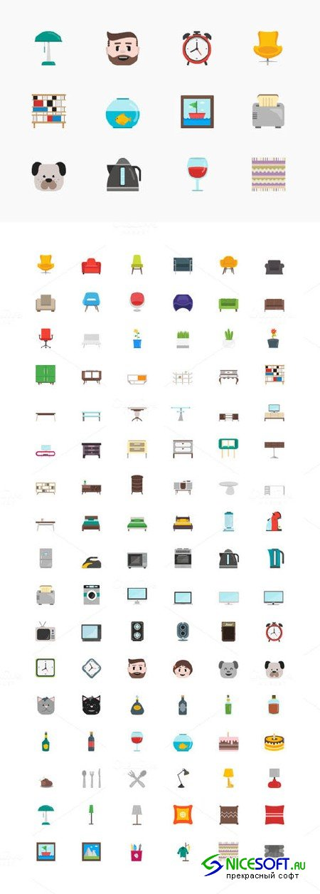 100+ Homey Icons Set - Creativemarket 168594