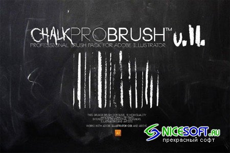 Brush | ChalkProBrush v2 - Creativemarket 21301
