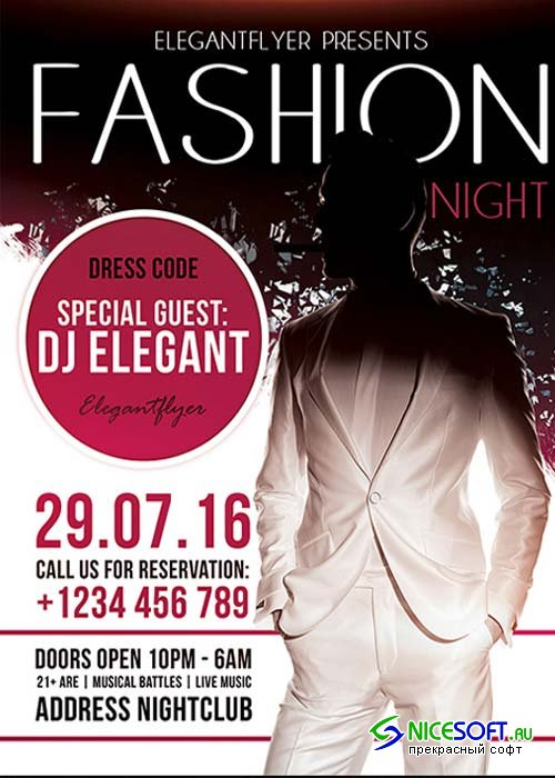 Fashion Nigh Flyer Template + Facebook Cover