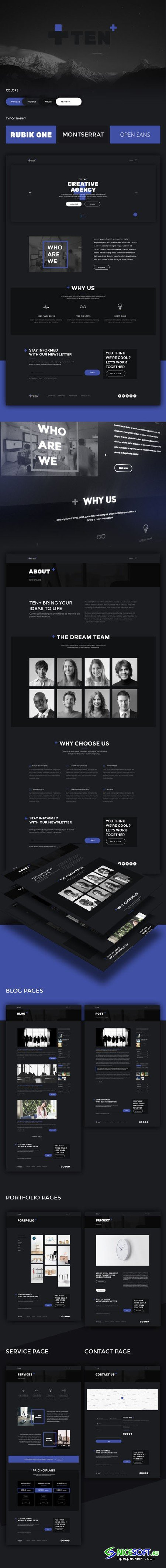 TEN+ PSD & HTML Template