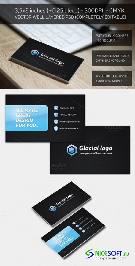 Glacial Business Card - Creativemarket 161120