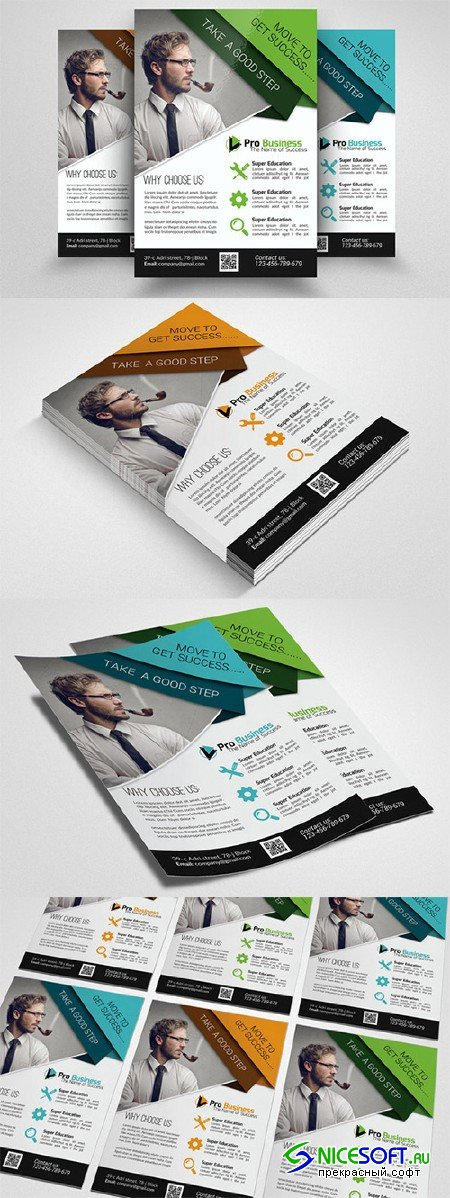 Business Training Agency Flyer - Creativemarket 553993