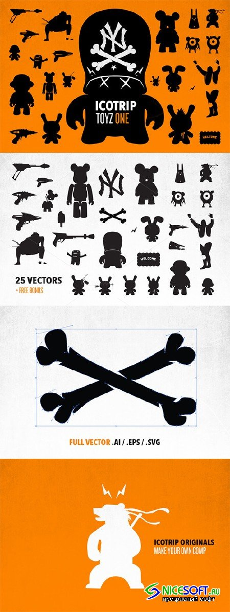 ICOTRIP - toyz icon bundle + bonus - Creativemarket 29923