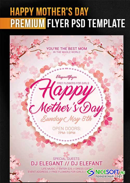 Mothers Day V8 PSD Flyer Template