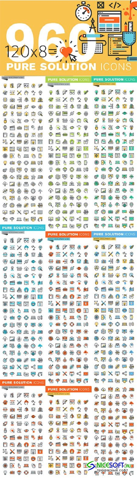 Set of Thin Line Design Icons - Creativemarket 522308