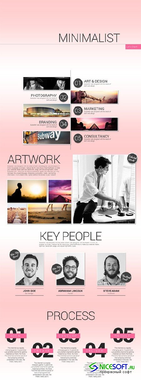 Minimalist Showcase PowerPoint - Creativemarket 59888