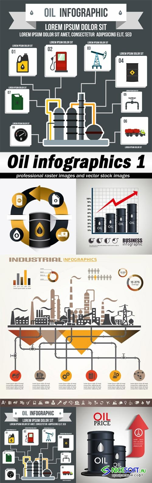 Oil infographics 1-5xEPS