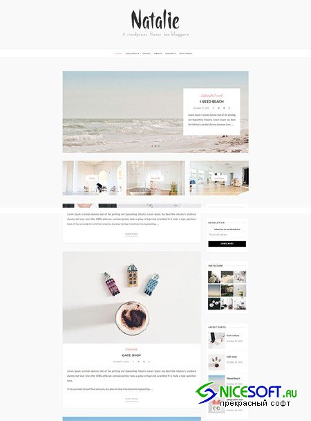 Natalie - Wordpress Blog Theme - Creativemarket 686348