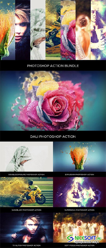Photoshop Action Bundle - Creativemarket 683348