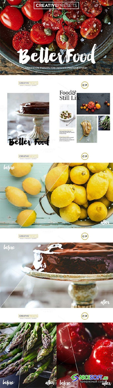 BetterFood - 10 Lightroom Presets - Creativemarket 299060